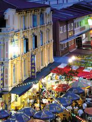 Foto op Plexiglas Singapore Chinatown by night, Singapore
