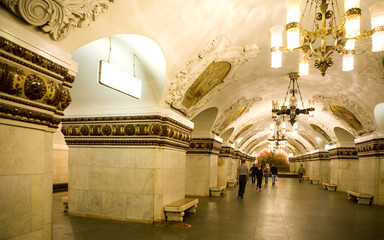 The famous metro Moscow