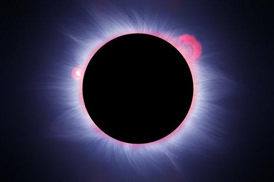 Ideal solar eclipse