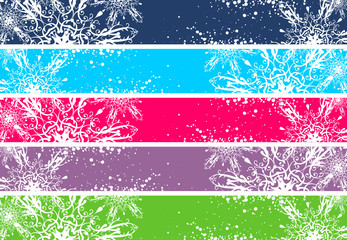 Christmas banners for Internet (468x60 and 730x90 sizes)