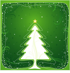 christmas tree, vector