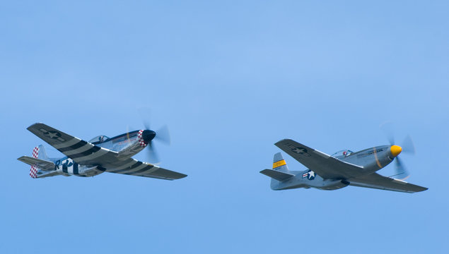Two P-51 Mustang Airplanes