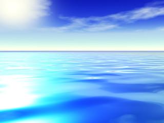 Ocean and blue sky.