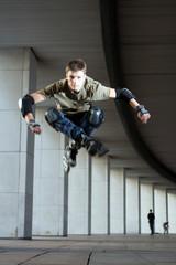 Skater jumping