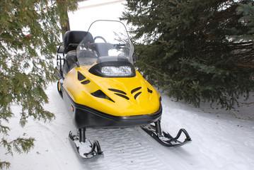 Foto op Plexiglas Wintersporten Snowmobile