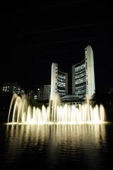 city hall fountains