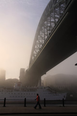 Wall Mural - The fog on the Tyne