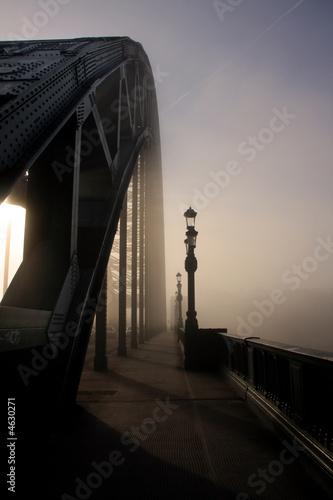 Fototapete The fog on the Tyne