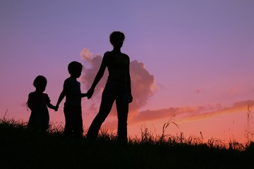 family against sunset