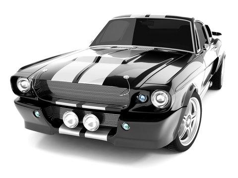 Black Classical Sports Car