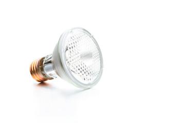 halogen bulb on white
