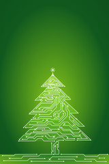 christmas tree , vector illustration