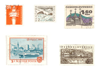 Various European stamps