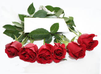 lovely note in red roses