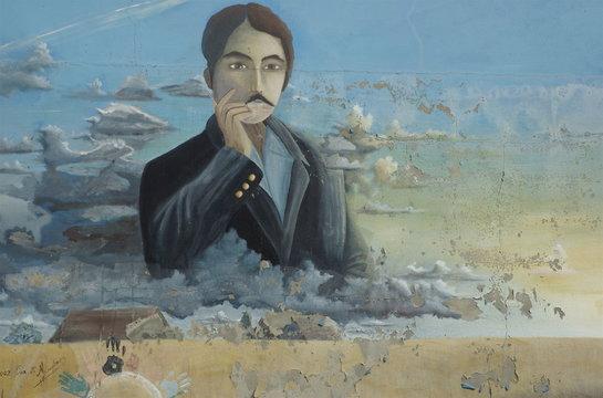 Fresque de Marcel Proust à Illiers-Combray