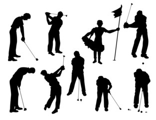Golf Vector Silhouettes