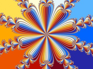 Wall Murals Psychedelic Rainbow flower