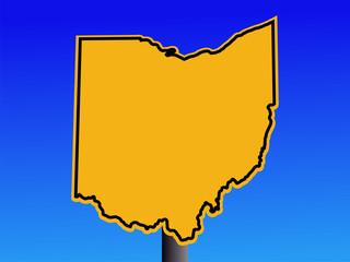 Ohio warning sign