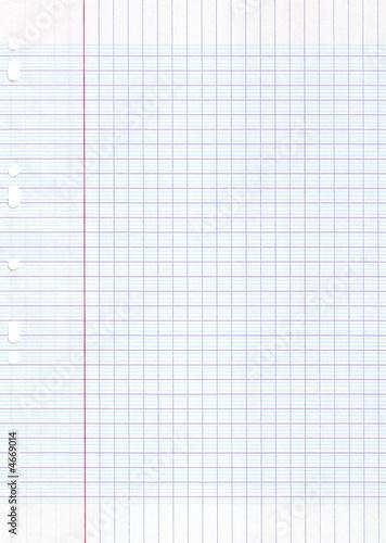 Feuille d 39 cole grand carreaux photo libre de droits for Feuille simple grand carreaux