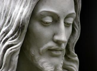 Foto op Plexiglas Historisch geb. Jesus black and white, close-up