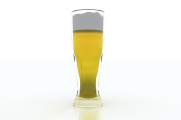 beer pint on white background