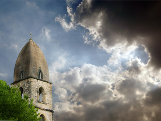 Church Steeple Dramatic Sky
