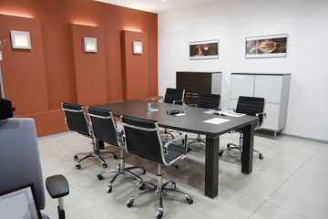 the modern office interior