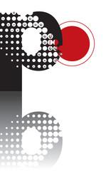 retro dots abstract zen alphabet design P