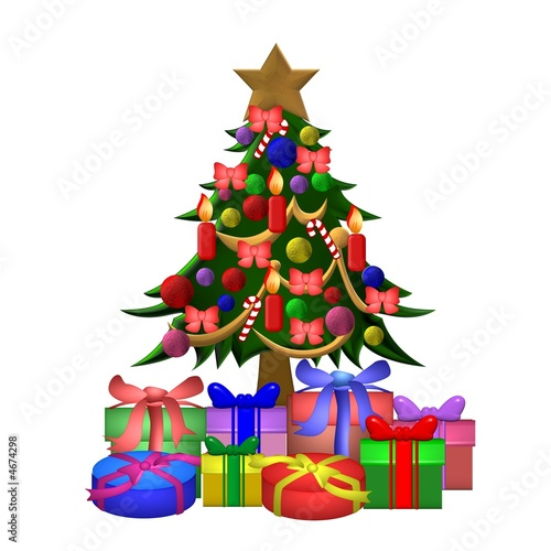 geschm ckter weihnachtsbaum stockfotos und lizenzfreie bilder auf bild 4674298. Black Bedroom Furniture Sets. Home Design Ideas