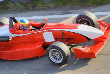 Printed roller blinds Fast cars Red formula racing car