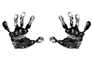 Black Child's Handprints