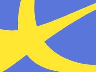 Fractal flag of Sweden.