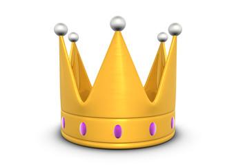 Golden crown 3d