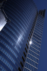 Modern office building (toned in blue)