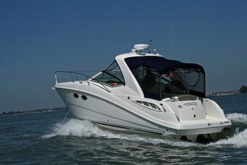 power boat at sea