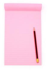 pink notepaper