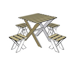 garden furniture - table and chair