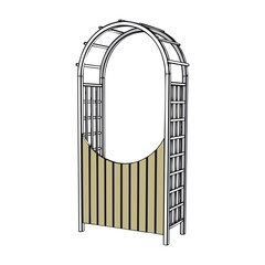 garden furniture - pergola from bow