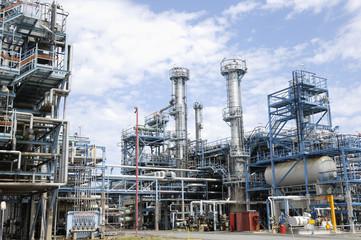 interior scene of large refinery
