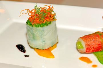 Malaysia Kuala Lumpur: Culinare 2007: asparagus roll with fish