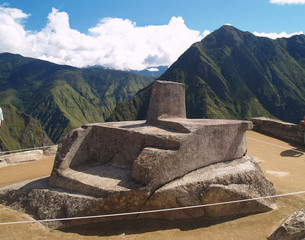 Intihuatana at Machu Picchu (Peru)