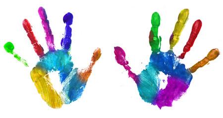 multicolor hands print