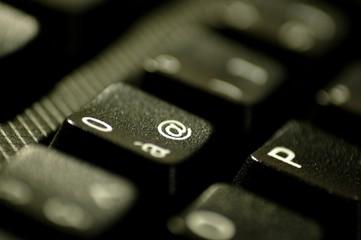 Touche Arobase d'un clavier