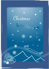 christmas winter vector snowflakes background