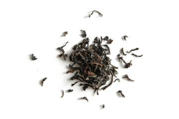 Black tea isolated object