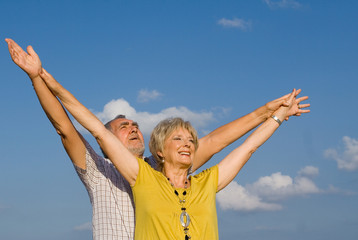 happiness,faith and joy, senior couple