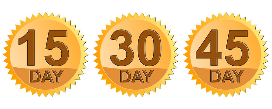 15,30 and 45 day return guarantee