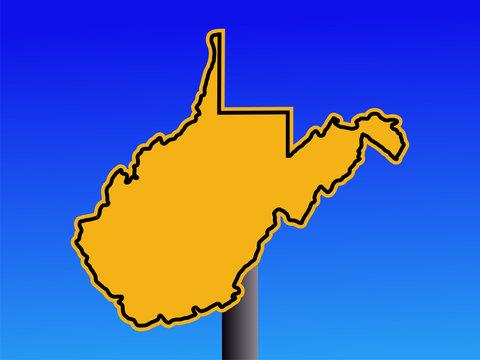 West Virginia warning sign