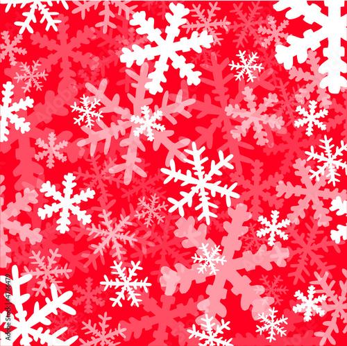 Flocons de neige sur fond rouge motif fichier - Motif de noel a imprimer ...