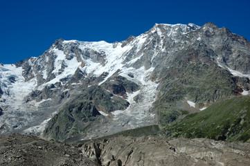 Snowed mountain peak